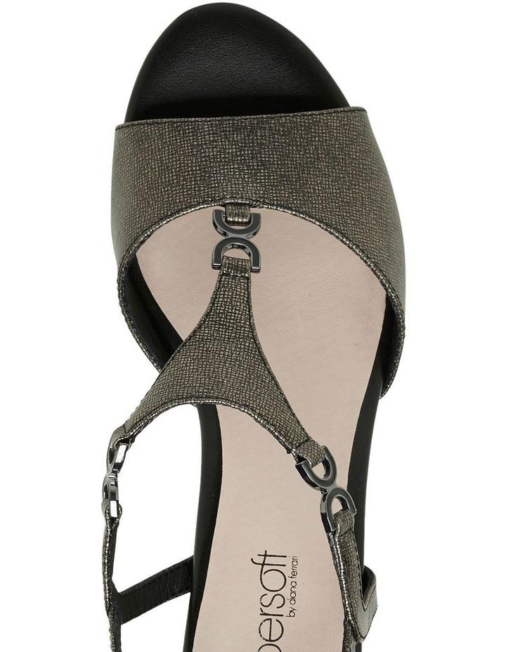 Cosmia Black Metallic Sandal image 8