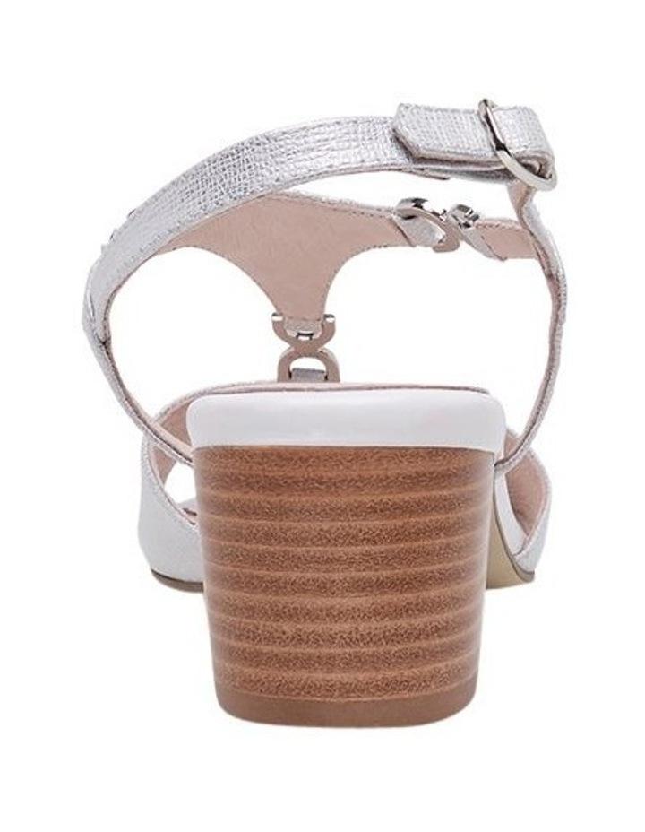 Cosmia White Metallic Sandal image 6