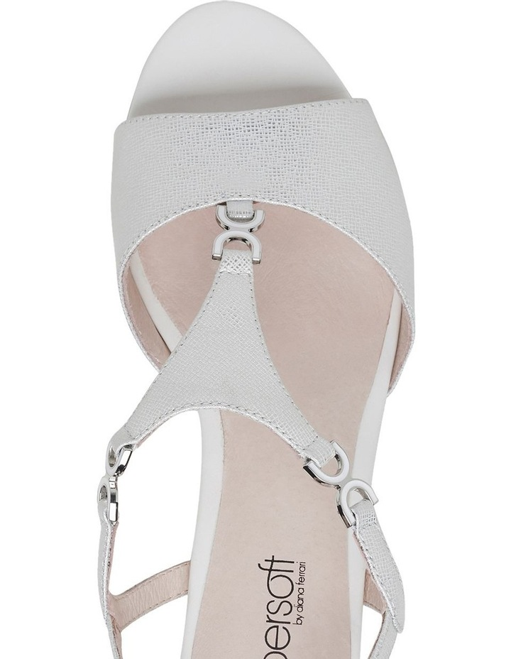 Cosmia White Metallic Sandal image 8