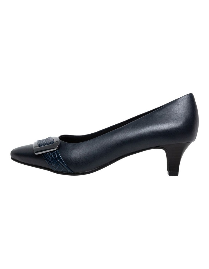 Supersoft Lyberty  Navy/Croc Heeled Shoe image 2