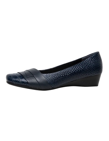 e1ef043f7321bb D.F.SupersoftRenzo3 Dark Blue Croc Heeled Shoe. D.F.Supersoft Renzo3 Dark  Blue Croc Heeled Shoe