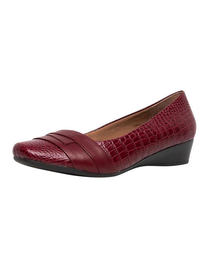 Supersoft Renzo3 Deep Crimson Croc Heeled Shoe image 1