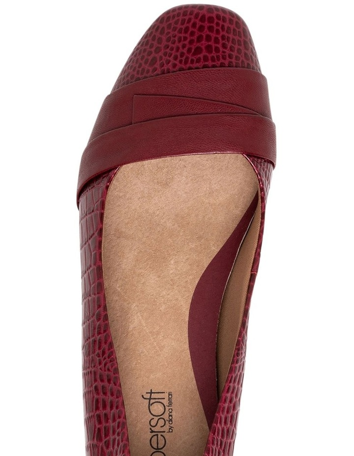 Supersoft Renzo3 Deep Crimson Croc Heeled Shoe image 3