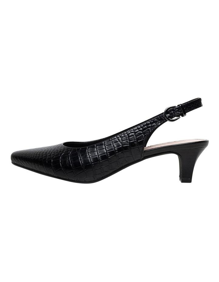 Linden2 Black Croc Heeled Shoe image 2