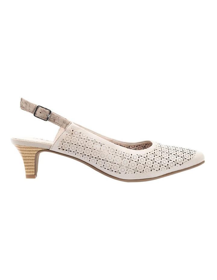 Lisandra Pale Taupe/Floral Heeled Shoe image 1