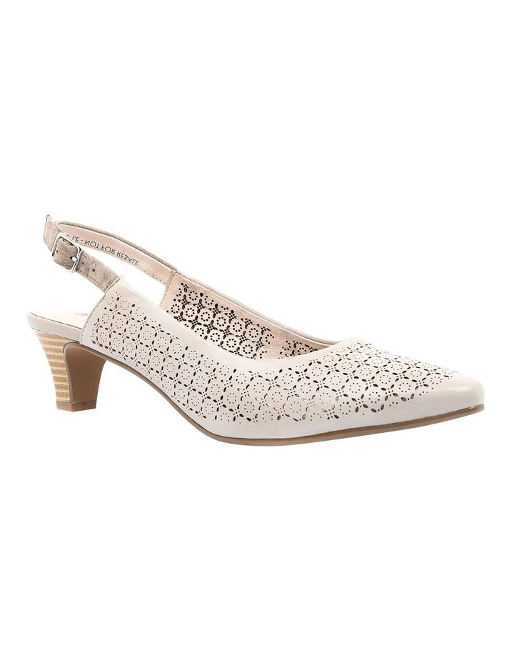Lisandra Pale Taupe/Floral Heeled Shoe image 2