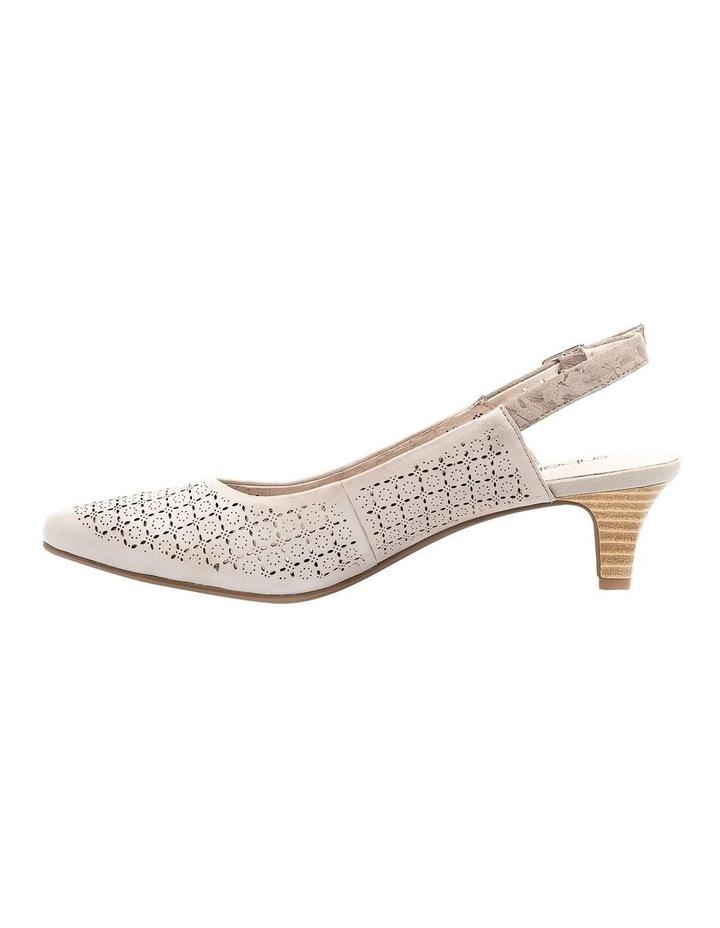 Lisandra Pale Taupe/Floral Heeled Shoe image 3
