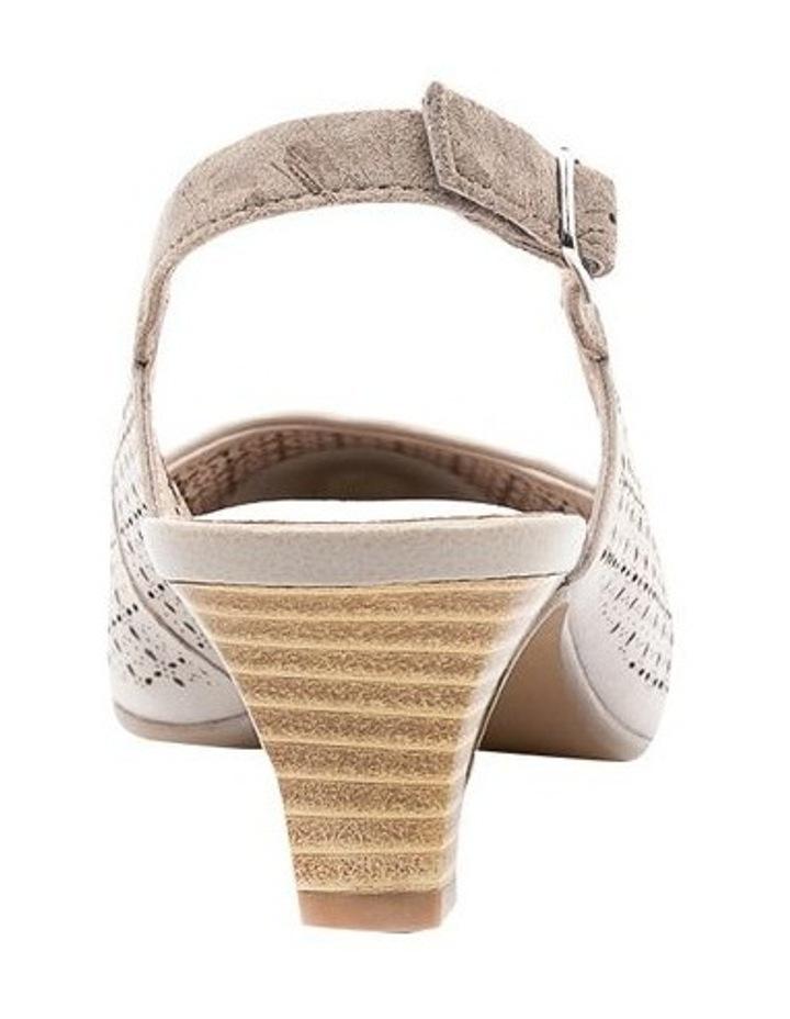 Lisandra Pale Taupe/Floral Heeled Shoe image 4
