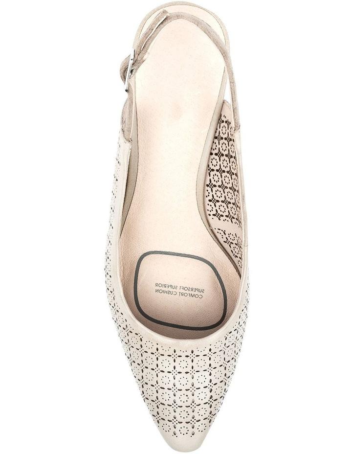 Lisandra Pale Taupe/Floral Heeled Shoe image 5
