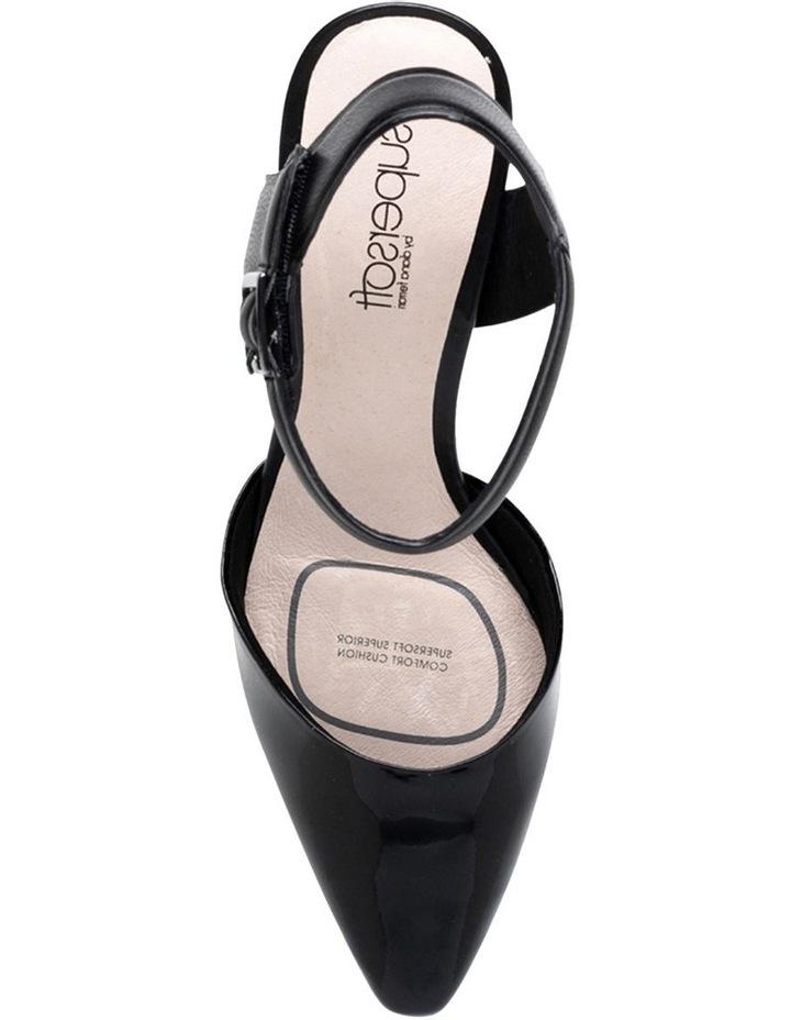 Majesta Black/Patent Heeled Shoe image 5