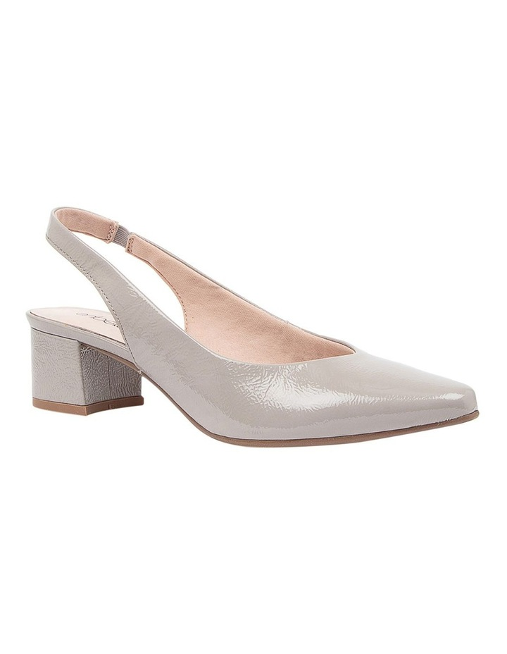 Kadnook Heeled Shoes Pale Taupe Crinkle Patent image 2