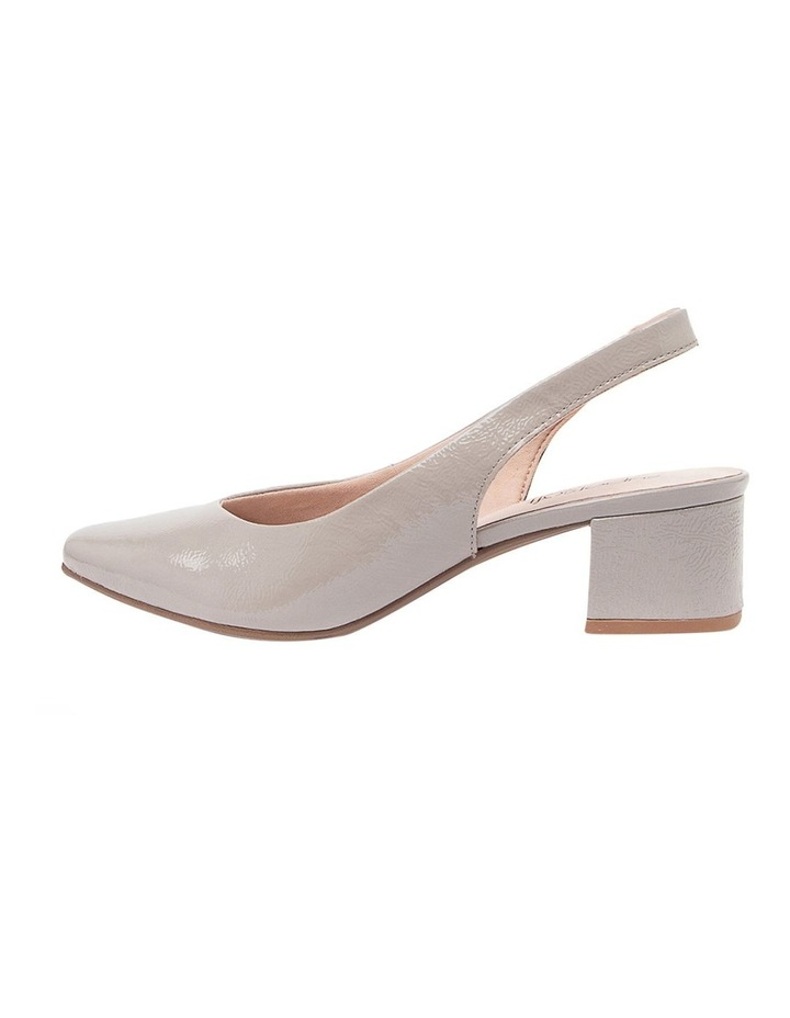 Kadnook Heeled Shoes Pale Taupe Crinkle Patent image 3