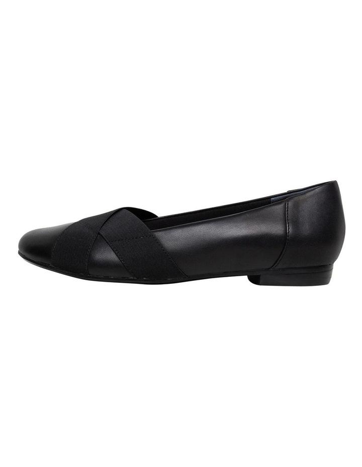 Clarkson Black Flat Shoe image 2