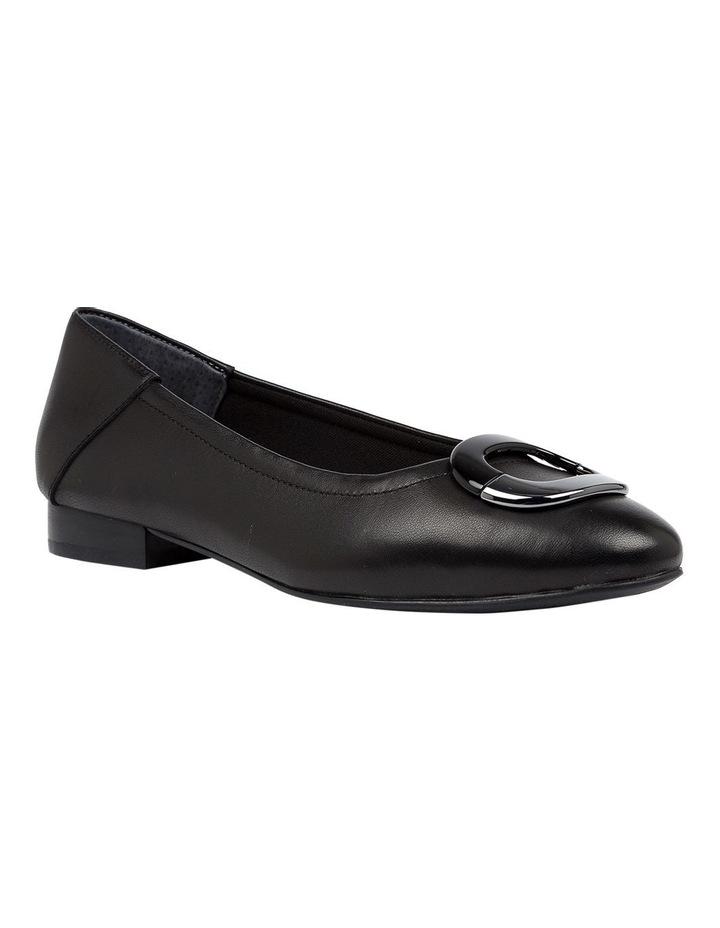 Abree Black Flat Shoe image 2
