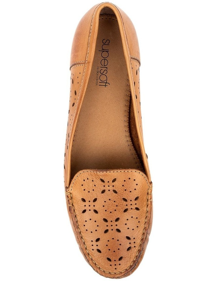 Fiennes Tan Flat Shoe image 5