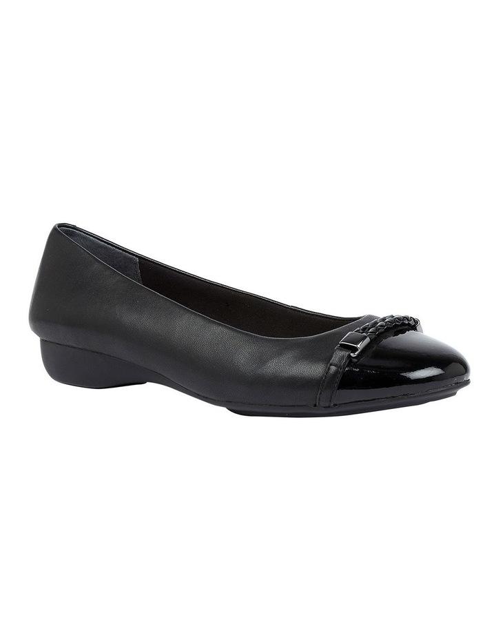 Etchells Black Flat Shoe image 2
