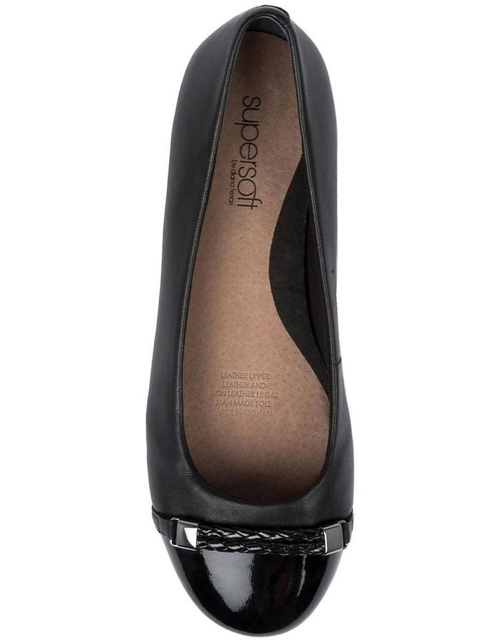 Etchells Black Flat Shoe image 5