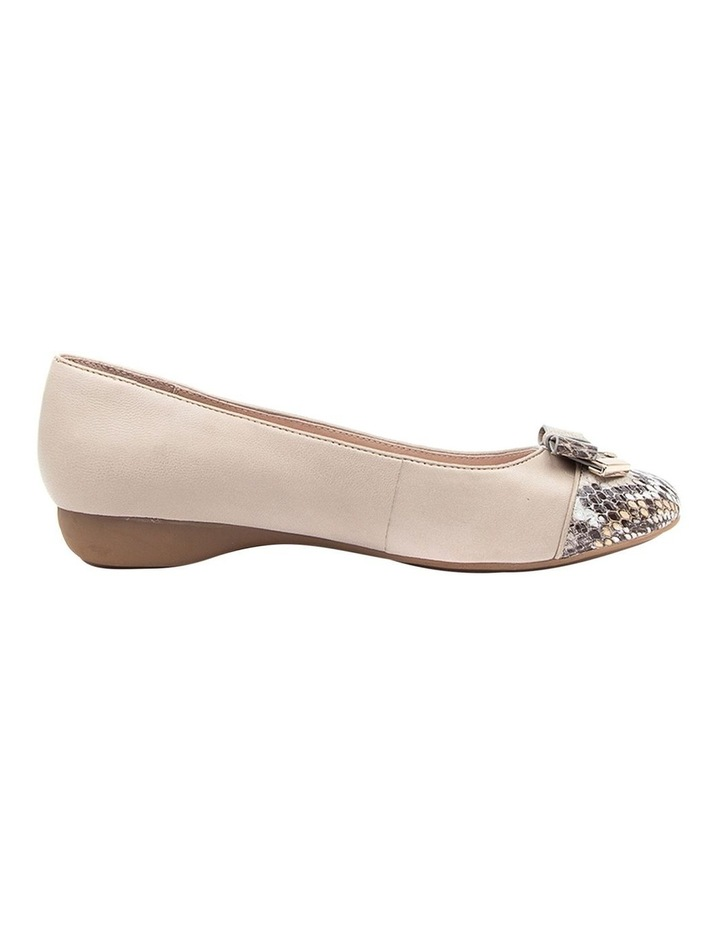 Epsom Flat Shoes Taupe Python image 1