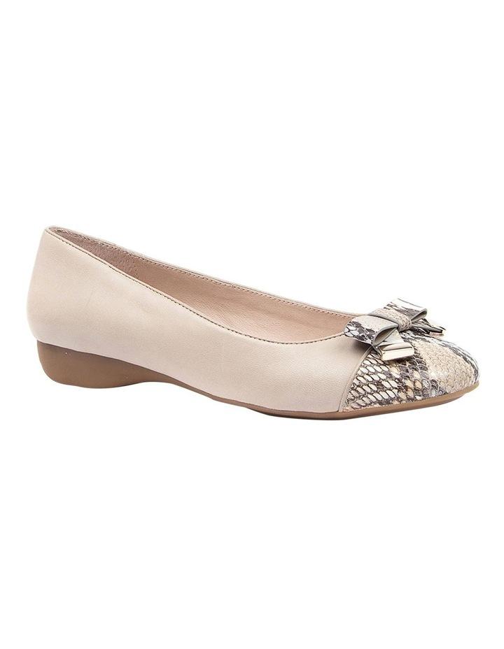 Epsom Flat Shoes Taupe Python image 2