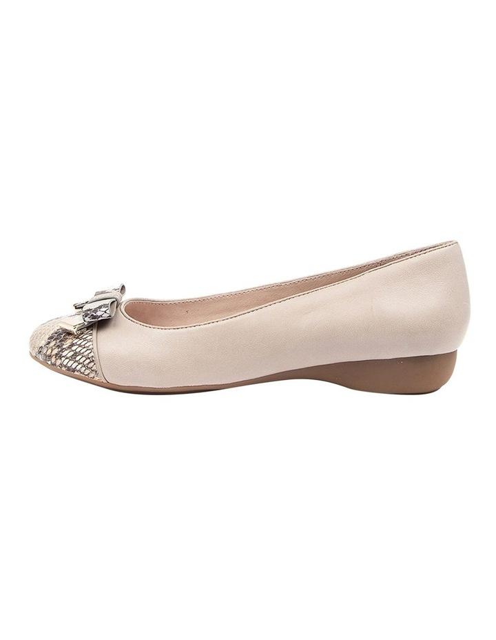 Epsom Flat Shoes Taupe Python image 3