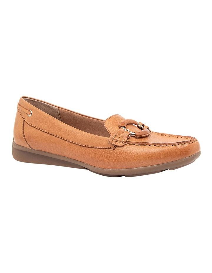 Leeto Flat Shoes Tan Euro Leather image 2