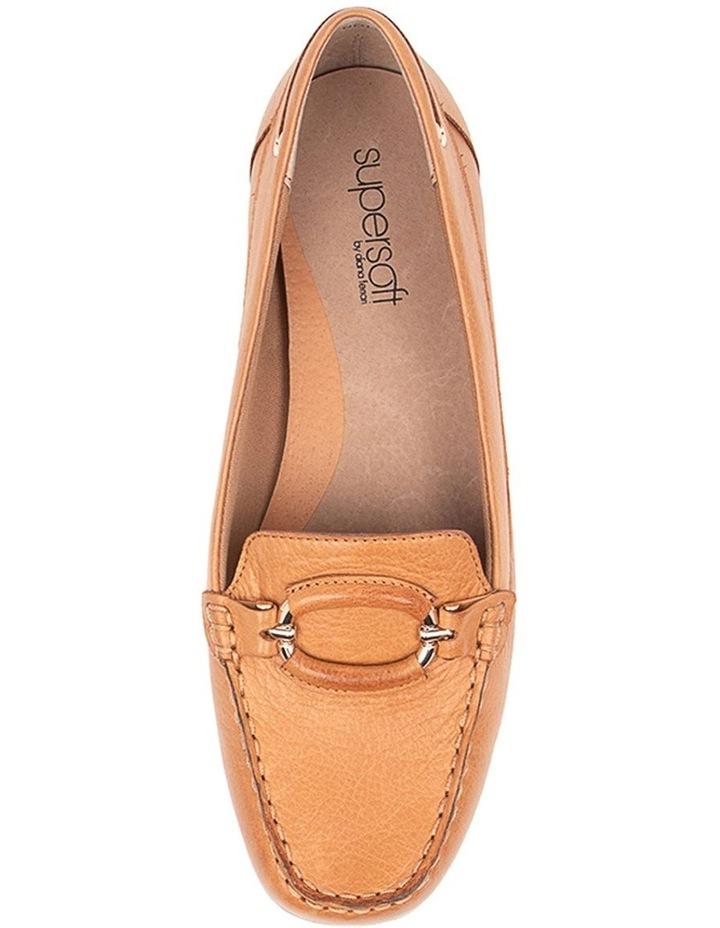 Leeto Flat Shoes Tan Euro Leather image 5