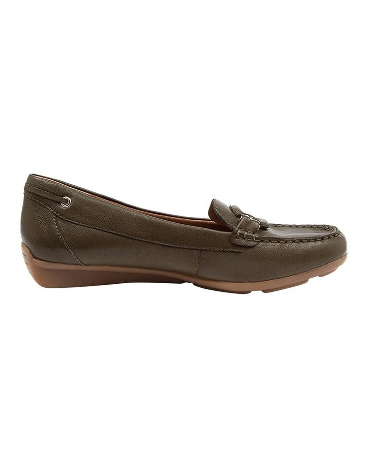 Leeto Flat Shoes Khaki Euro Leather image 1