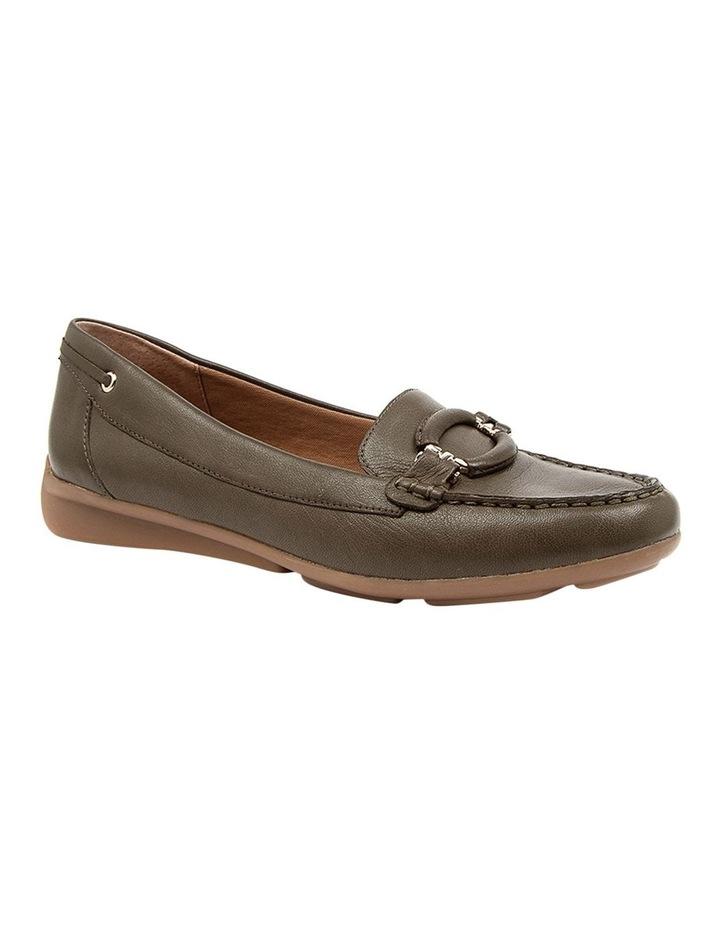 Leeto Flat Shoes Khaki Euro Leather image 2