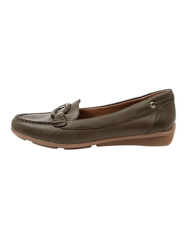 Leeto Flat Shoes Khaki Euro Leather image 3