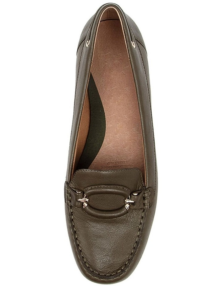 Leeto Flat Shoes Khaki Euro Leather image 5