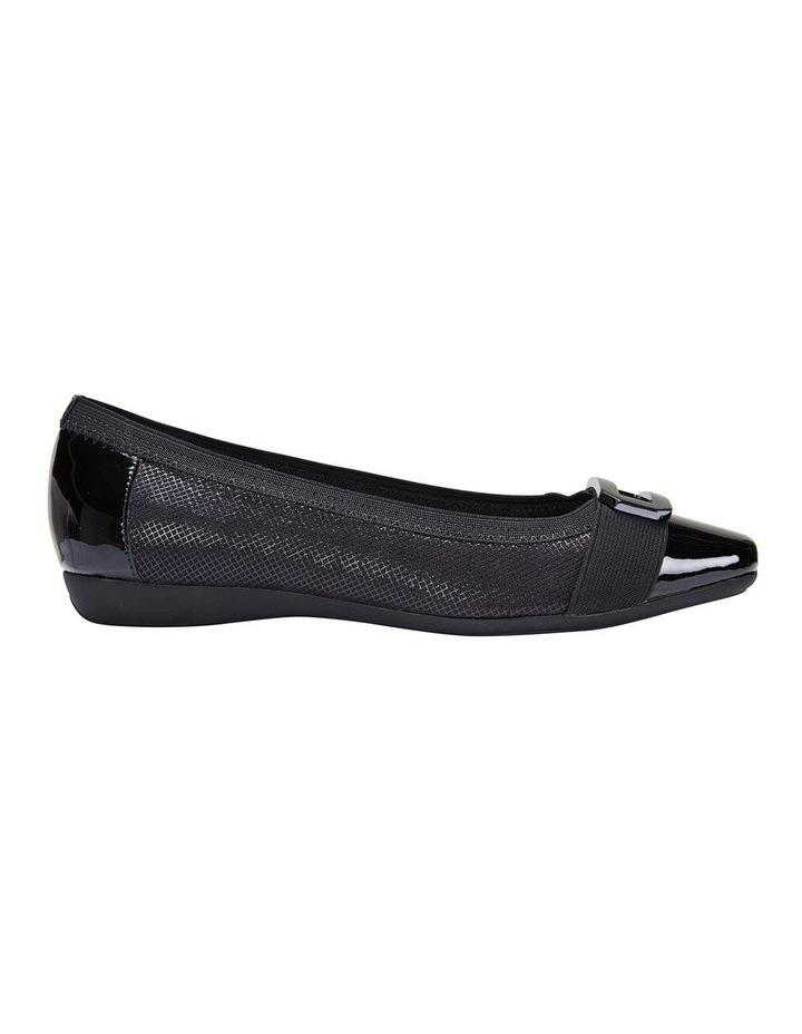 Tamsin Black Patent/Print Flat Shoes image 1