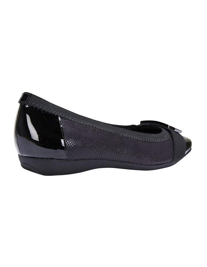 Tamsin Black Patent/Print Flat Shoes image 3