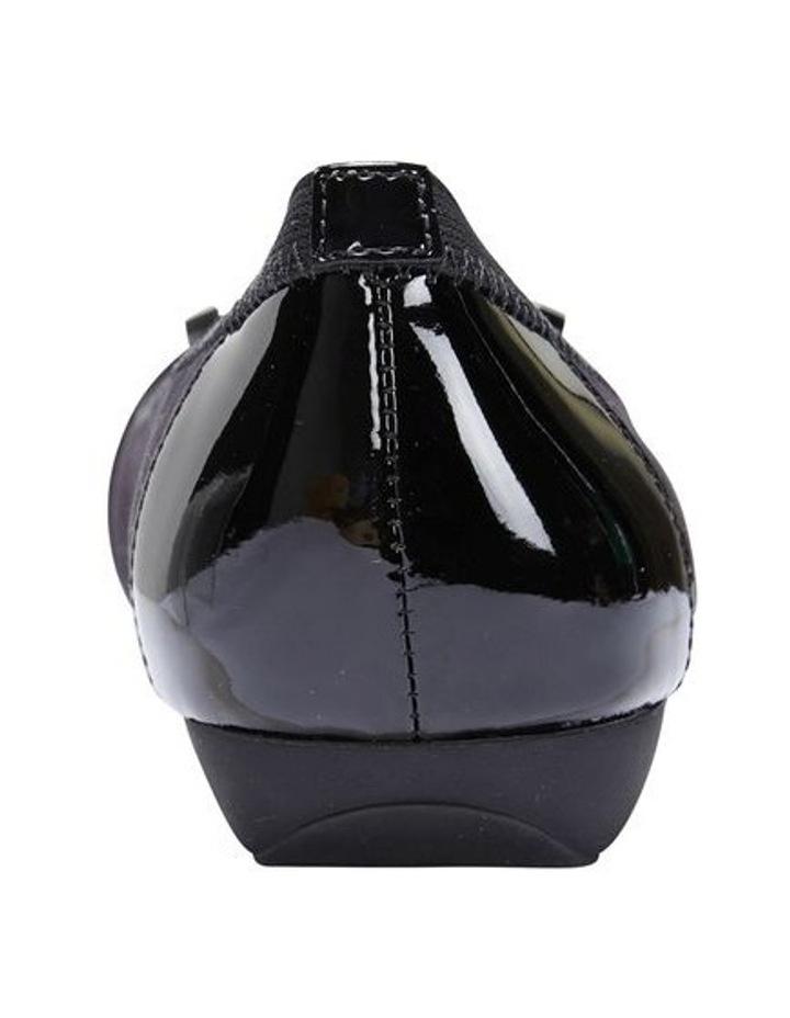 Tamsin Black Patent/Print Flat Shoes image 4