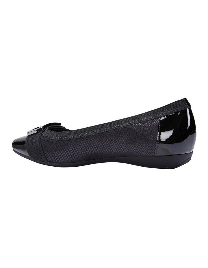 Tamsin Black Patent/Print Flat Shoes image 5