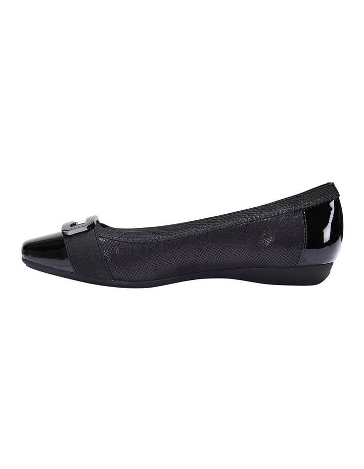 Tamsin Black Patent/Print Flat Shoes image 6