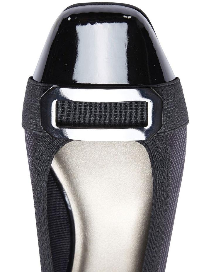 Tamsin Black Patent/Print Flat Shoes image 7