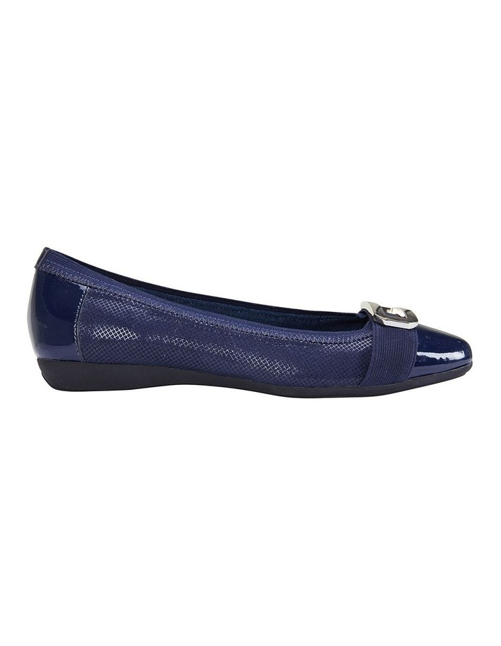Tamsin Navy Patent/Print Flat Shoes image 1