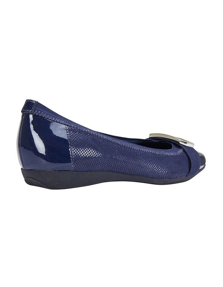 Tamsin Navy Patent/Print Flat Shoes image 4