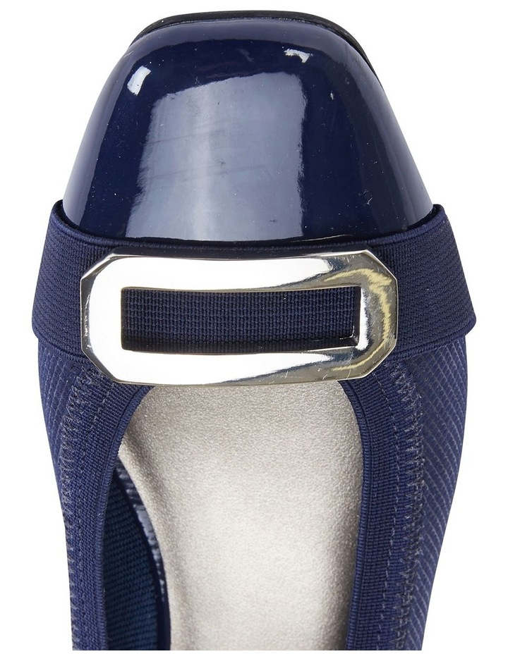 Tamsin Navy Patent/Print Flat Shoes image 7