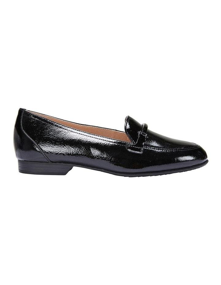 Glebe Black Crinkle Patent Flat Shoes image 1