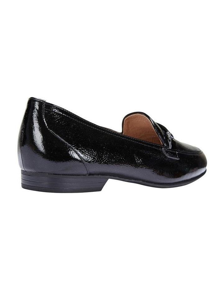 Glebe Black Crinkle Patent Flat Shoes image 4