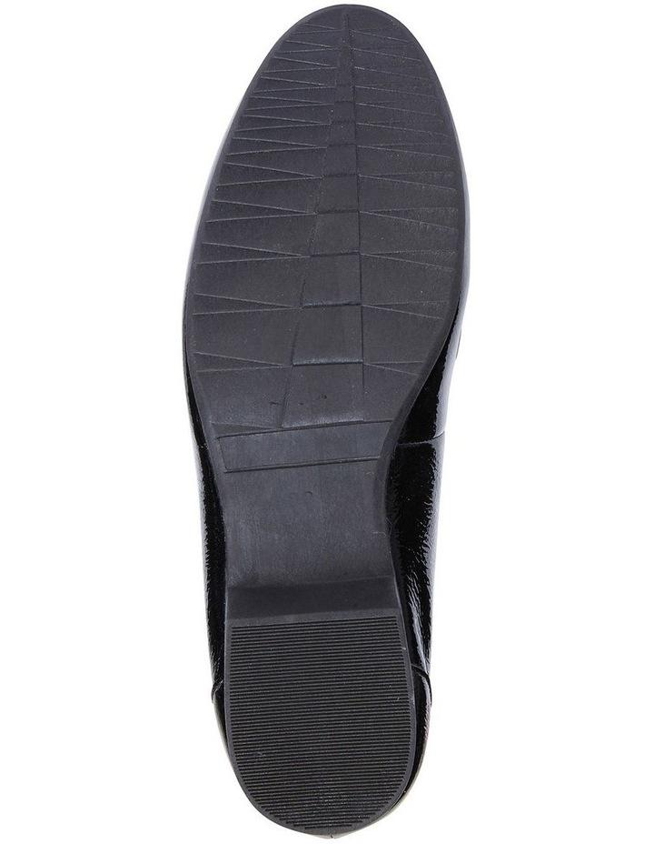 Glebe Black Crinkle Patent Flat Shoes image 6