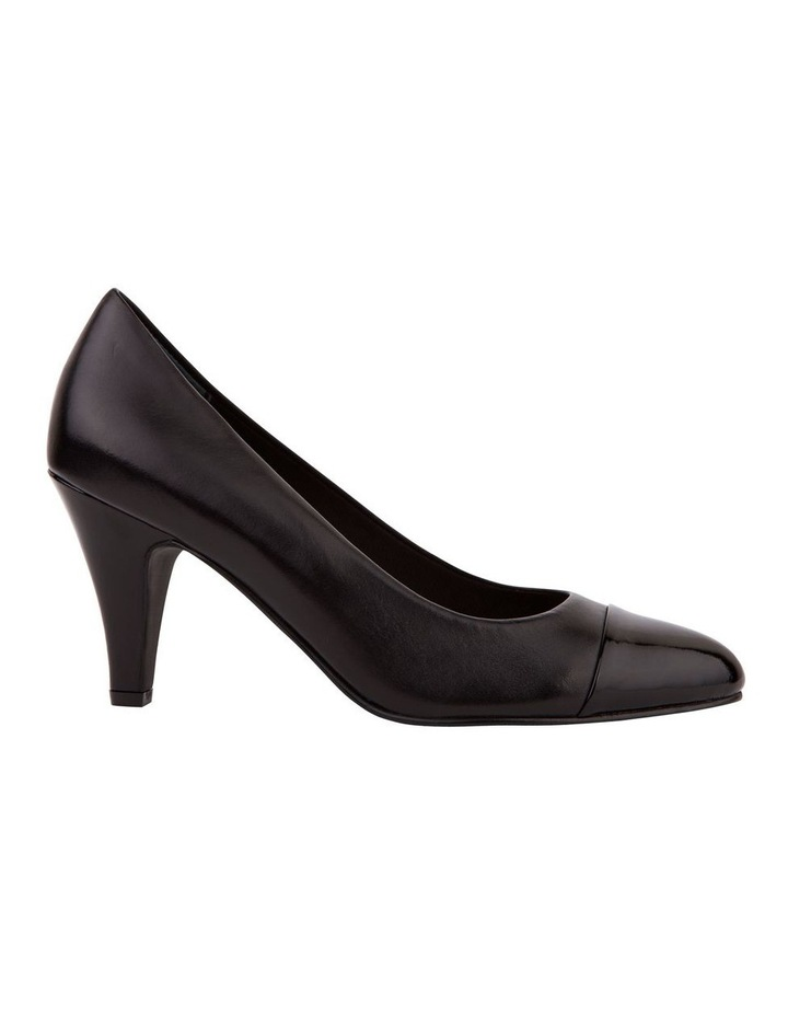 Monty Black Patent and Glove Contrast Pump image 1