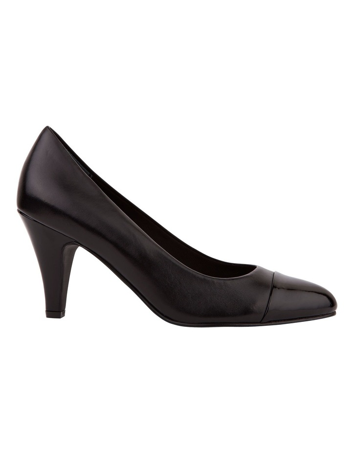 Monty Black Patent and Glove Contrast Pump image 2