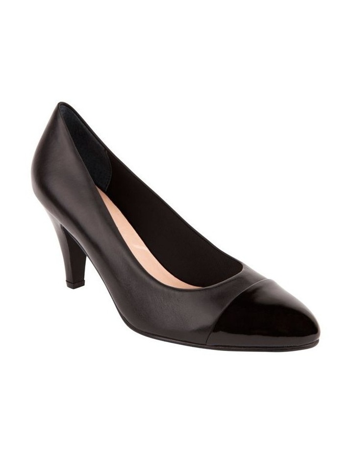 Monty Black Patent and Glove Contrast Pump image 3
