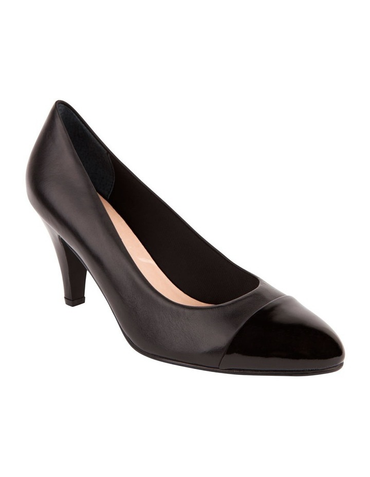 Monty Black Patent and Glove Contrast Pump image 4