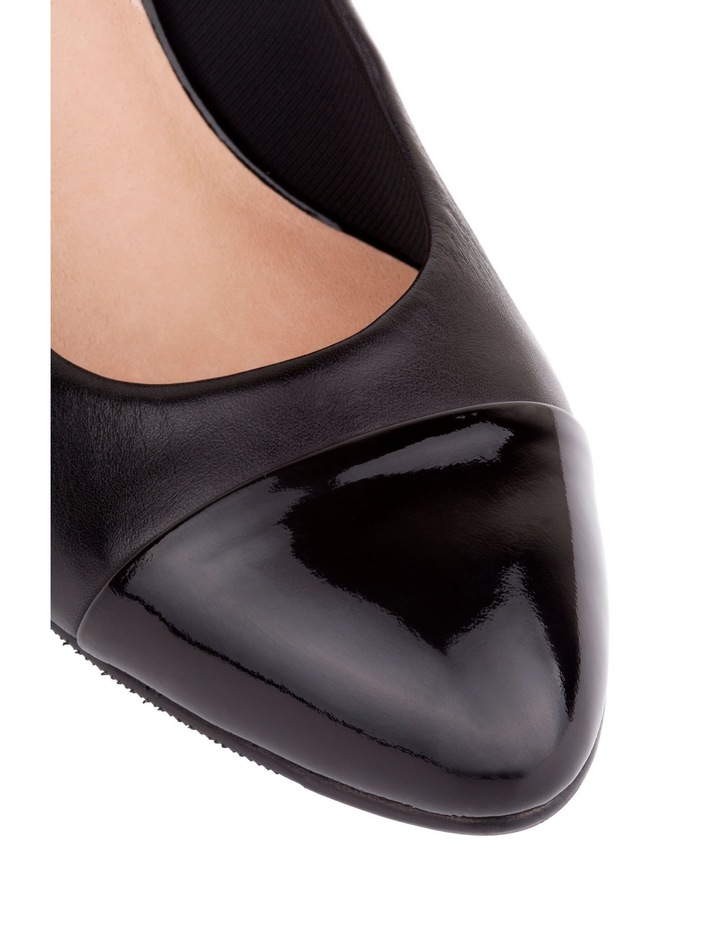 Monty Black Patent and Glove Contrast Pump image 8
