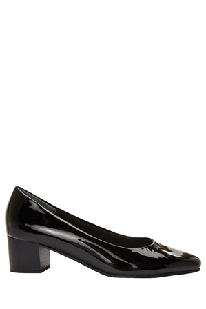 Easy Steps - Gamma Black Patent Court Shoe
