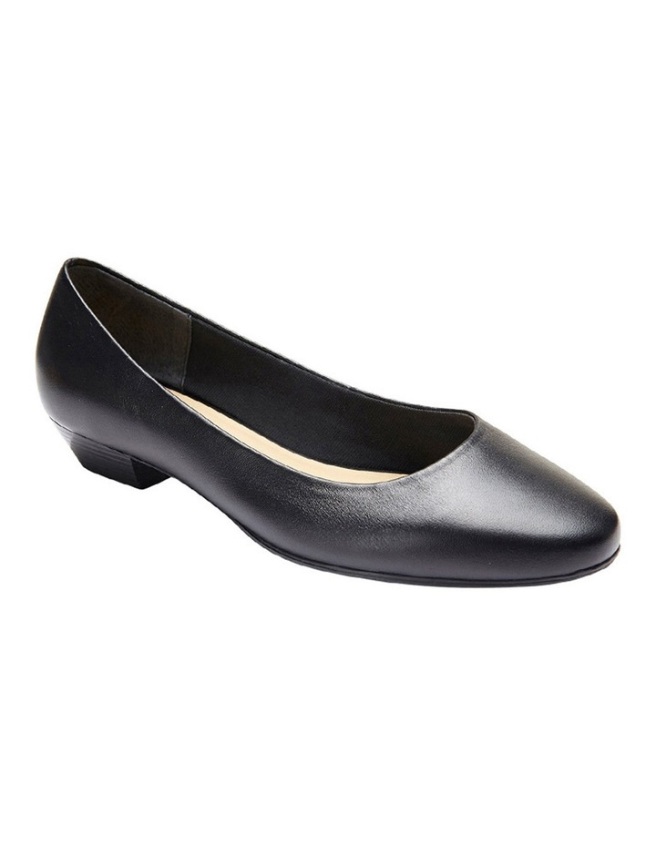 Regal Black Glove Heeled Shoes image 4