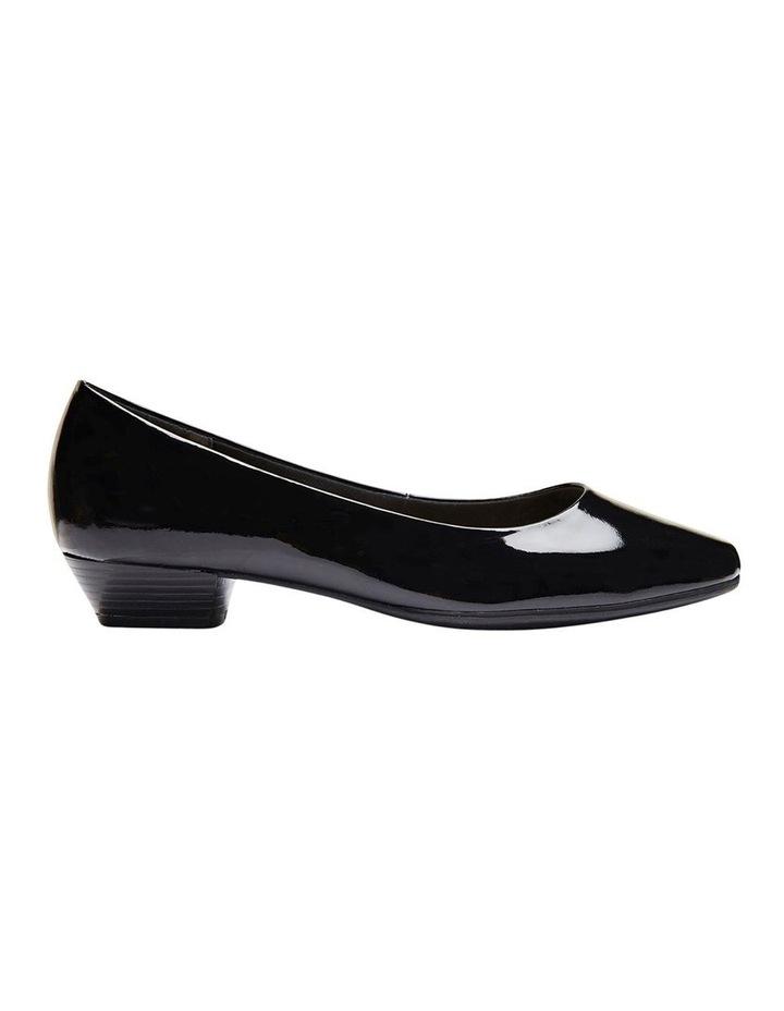 Regal Black Patent Heeled Shoes image 1